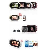 """Видеоглазок дверной + звонок Rollup iHome-3 [3.7"""" TFT-LCD, GSM, Wi-Fi], фото 2"""