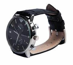 Часы наручные мужские реплика Emporio Armani AR-B0725 (Сталь, черный циферблат), фото 3
