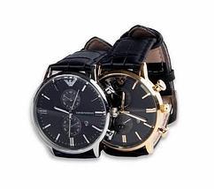 Часы наручные мужские реплика Emporio Armani AR-B0725 (Золото, черный циферблат), фото 2