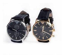 Часы наручные мужские реплика Emporio Armani AR-B0725 (Золото, черный циферблат), фото 3
