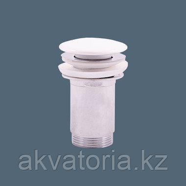MD0485 водослив для умывальника крышка керамич белая