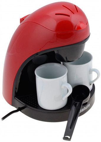 Кофеварка капельная с двумя кофейными чашками Saturn ST-CM7050