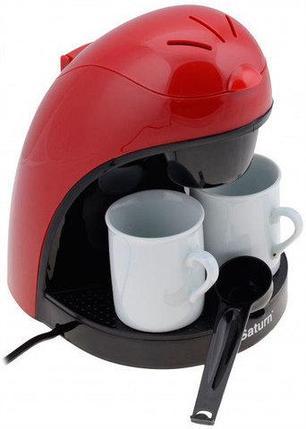 Кофеварка капельная с двумя кофейными чашками Saturn ST-CM7050, фото 2