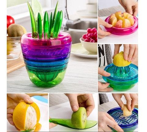 Набор для очистки и нарезки фруктов Fruits Plant [14 предметов]