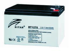 Батарея необслуживаемая (аккумулятор) Ritar RT1270 (12V 7 Ah), Емкость аккумулятора: 7 Ah, Разъемы: F1/F2