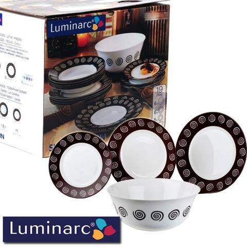 Сервиз столовый Luminarc Sirocco Brown G4135 [19, 46 предметов] (19 предметов)