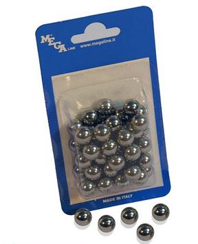 Металлические шарики Megaline 163/3, Диаметр: 10,3 мм, 45 шт., Упаковка: Коробка