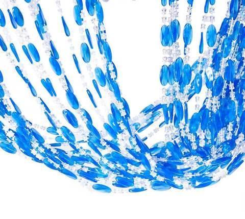 Занавески для дверного проема 88180 (Розовый с белым), фото 2