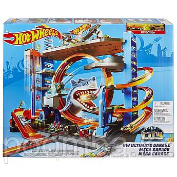 Мега гараж Hot Wheels(Хот Вилс) Легендарный гараж с акулой Mattel