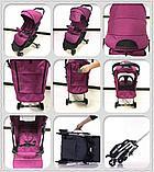 Коляска Mstar (Baby Grace) Розовый, фото 2