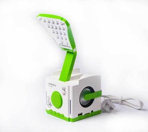 Лампа настольная с аккумулятором и функциями MP3-плеера KMS KM-602, фото 2