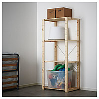 Стеллаж 1 секция ХЕЙНЕ хвойное дерево ИКЕА, IKEA