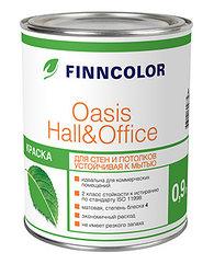 Краска OASIS HALL & OFFICE A Глубокоматовая устойчивая к мытью водно-дисперсионная краска 0,9 л.