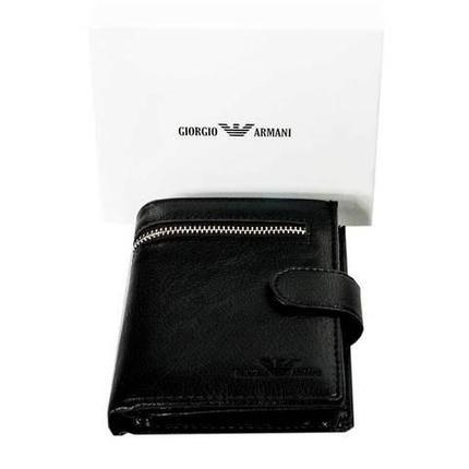 Бумажник двойного сложения мужской GIORGIO ARMANI A20803-3 (A03, черный), фото 2