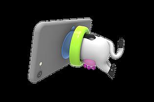 Подставка для телефона жевательное драже CHOPS c присоской 10 гр. ( Коровка, поросёнок, лошадка, утка)