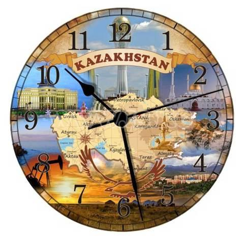 Часы настенные «Карта Казахстана»
