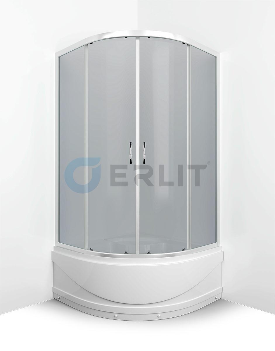 Душевой уголок Erlit ER0510T-C4, 100х100 см., с высоким поддоном, тонированное стекло