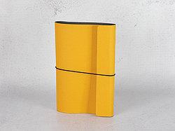 Блокнот из экокожи на резинке. Оранжевый