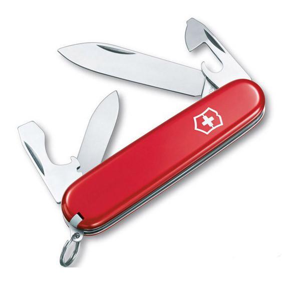 Нож складной офицерский Victorinox EcoLine Recruit, Функционал: Туризм, Кол-во функций: 10 в 1, Цвет: Красный,