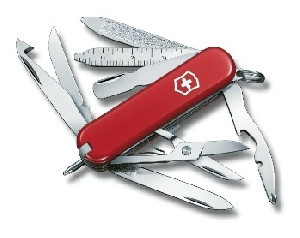 Нож складной карманный Victorinox Minichamp, Функционал: Туризм, Кол-во функций: 16 в 1, Цвет: Красный, (0.638