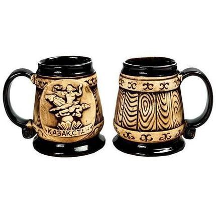 Набор кружек пивных керамических «Казахстан» {2 шт.} (Средний), фото 2