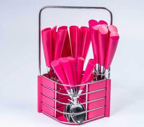 Набор столовых приборов CHUANG-E A003 (Розовый), фото 2