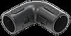 Поворот открывающийся на 90гр. CI25G IEK черный (5 шт/комп)