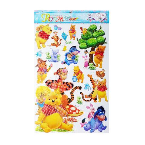 Наклейки 5D для украшения интерьера детской комнаты (Винни Пух)