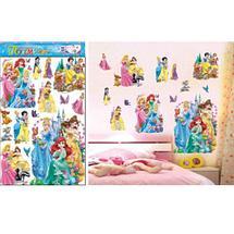 Наклейки 5D для украшения интерьера детской комнаты (Принцессы Диснея), фото 2