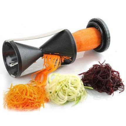 Спиральный нож для нарезки овощных спагетти Veggetti, фото 2
