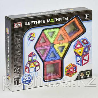 Детский магнитный конструктор Play Smart 30 деталей