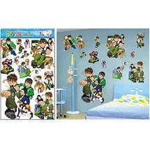 Наклейки 5D для украшения интерьера детской комнаты (Даша путешественница), фото 3