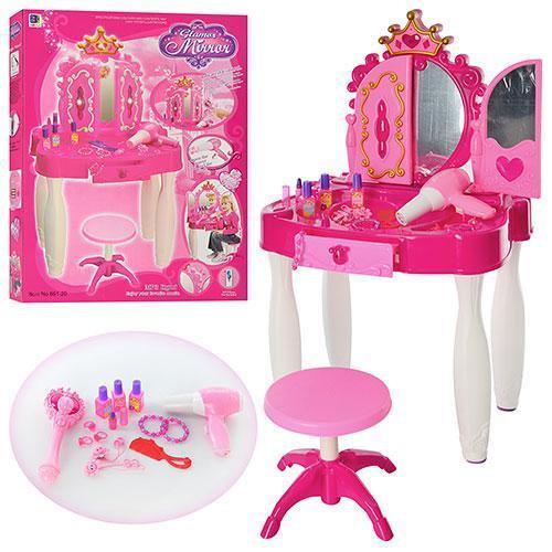Туалетный столик трюмо игровой с MP3 светом, музыкой и волшебной палочкой (пульт) - фото 1