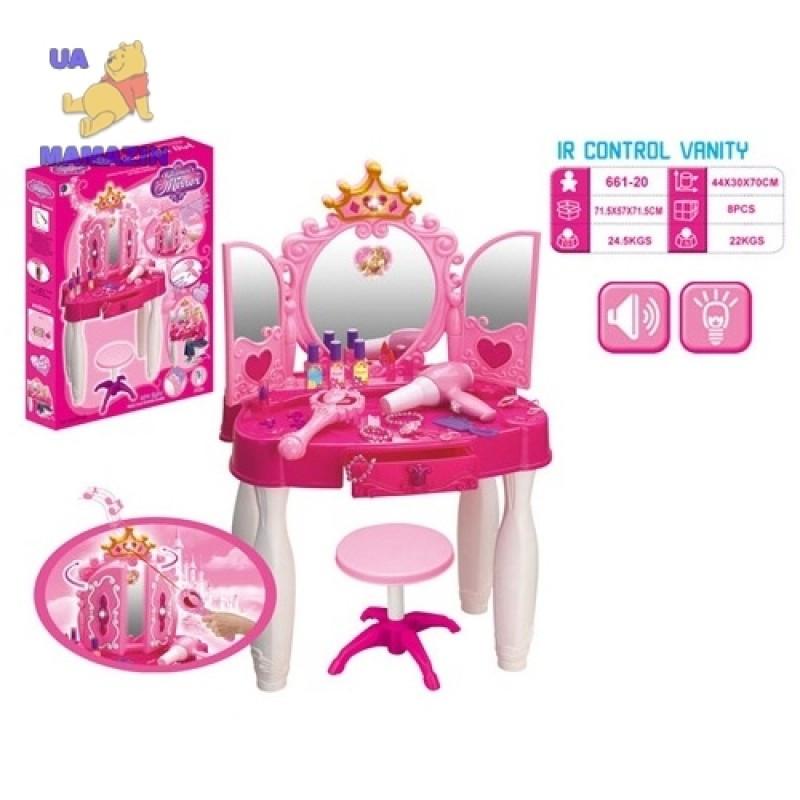 Туалетный столик трюмо игровой с MP3 светом, музыкой и волшебной палочкой (пульт) - фото 2