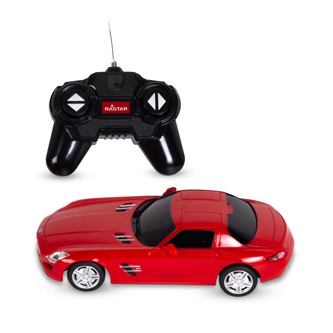 Радиоуправляемая модель автомобиль Rastar Mercedes-Benz SLS AMG, 1:24, Управление: Джойстик, Материал: Пластик