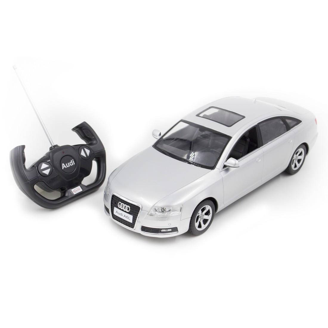 Радиоуправляемая модель автомобиль Rastar Audi A6L, 1:14, Управление: Джойстик, Материал: Пластик, Цвет: Сереб