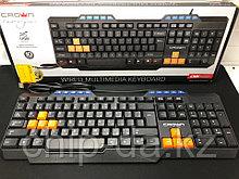 Клавиатура проводная, мультимедийная Crown cmk-482