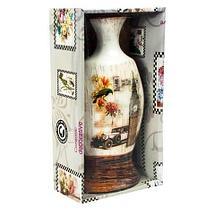 Вазочка керамическая декоративная в винтажном стиле (Амфора), фото 3