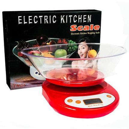 Весы кухонные электронные с чашей SCALE, фото 2