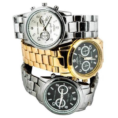 Часы наручные унисекс реплика Michael Kors New York LE MK5662 (Золото, черный циферблат)
