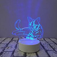 Светодиодный ночник Кот