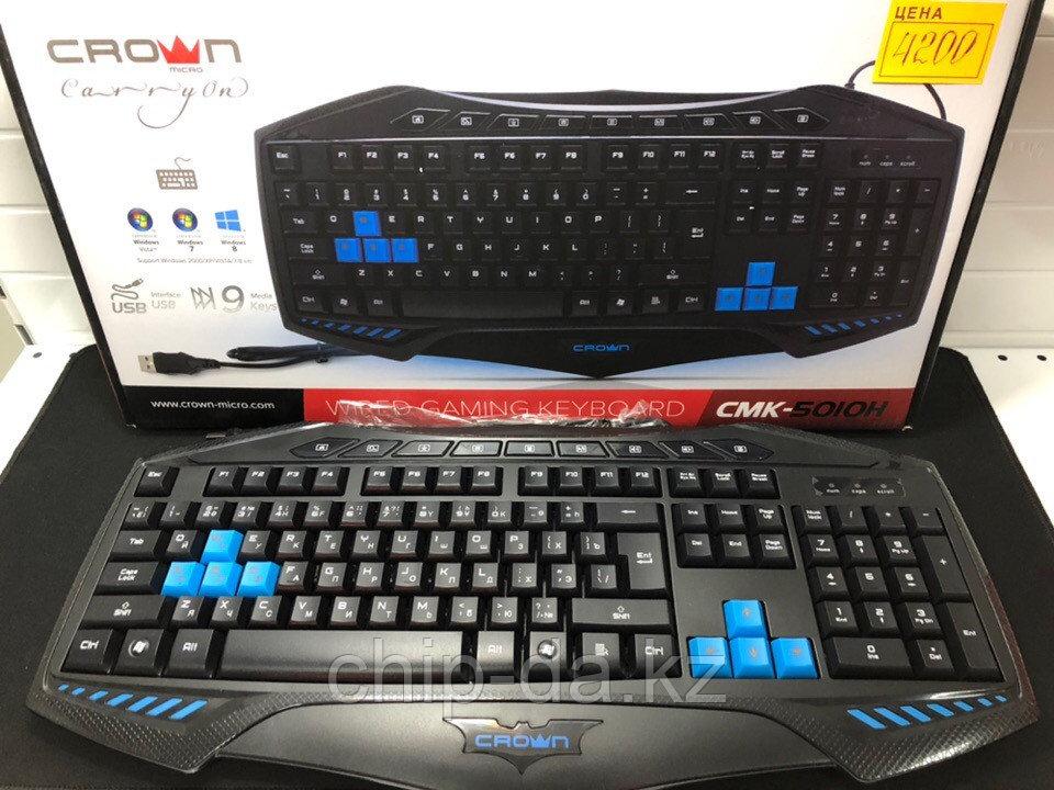 Клавиатура игровая, мультимедийная, проводная crown cmk-5010h
