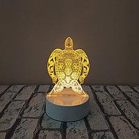 3D LED ночник Черепаха, фото 1