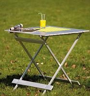 Стол складной Wehncke Camping, Материал: Алюминий, полиэстер, 30 кг, Цвет: Серебристый, Упаковка: Розничная
