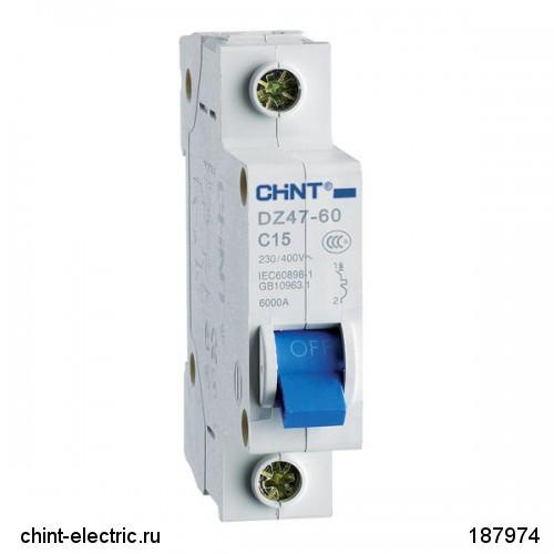 Автоматический выключатель реечный Chint DZ47-60 1P 25А, 230/400 В, Кол-во полюсов: 1, Предел отключения: 4,5