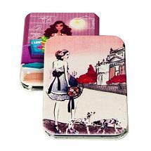 Зеркало карманное раскладное в винтажном стиле (Квадратное), фото 3