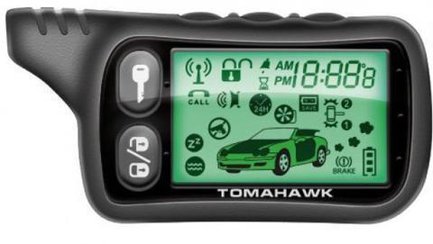 Сигнализация автомобильная Tomahawk TW-9010 с двусторонней связью и автозаводом, фото 2