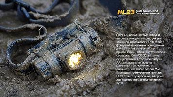 Фонарь электрический налобный Fenix HL23, Дальность луча: 55 м, Яркость: 150 (ярко), 5 (средне), 3 (тускло) лм