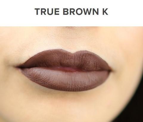 Жидкая матовая помада + карандаш KYLIE Lip Kit от Кайли Дженнер (True Brown K)
