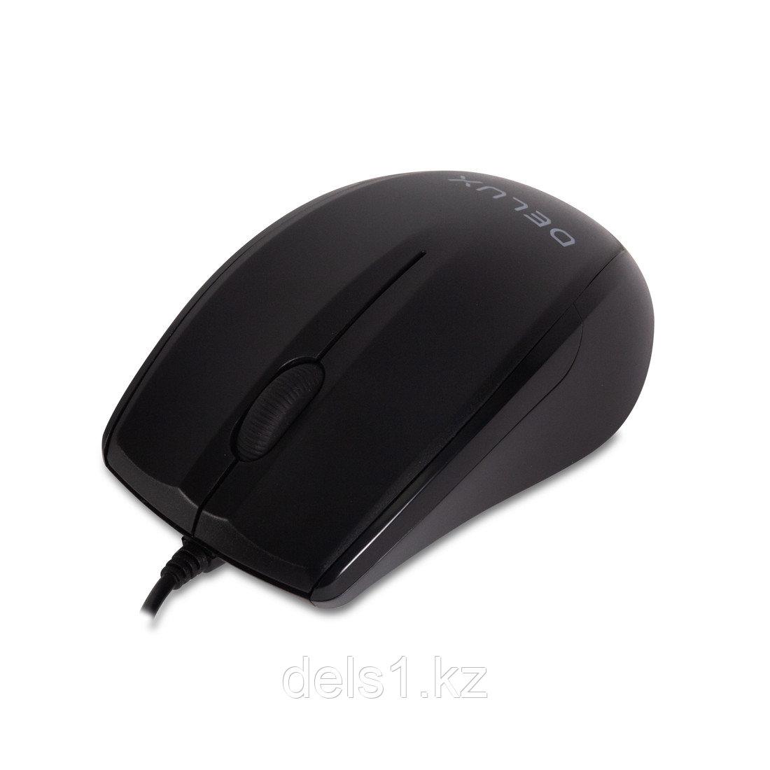 Мышь, Delux, DLM-321OUB, Оптическая, USB, 1000 dpi, Длина провода 1,6м, Чёрный